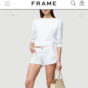 FRAME Denim jean shorts, Le Cutoff style, size 25